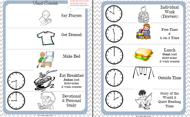 setting a schedule real life homeschooling